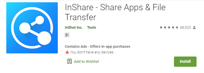 InShare for Laptop
