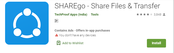 SHAREgo for Laptop