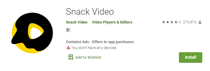 Snack video for Laptop