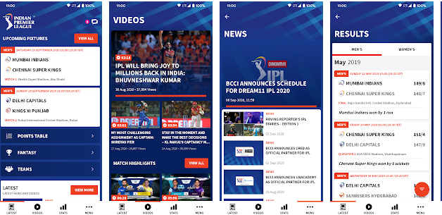 IPL 2020 App for Windows