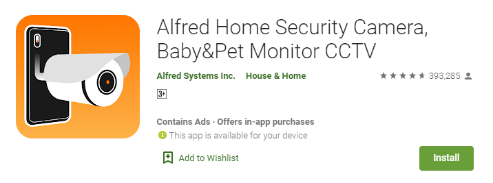 Alfred Home Security Camera for Mac PC