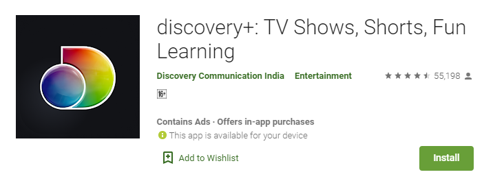 Discovery Plus for Mac PC