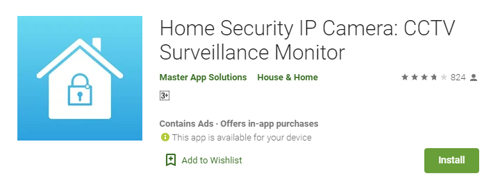 Home Security IP Camera for Laptop PC