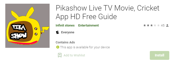 Pikashow for Windows Mac PC
