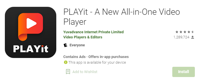PLAYit App for Mac PC