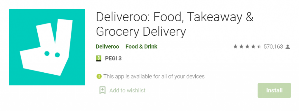 Deliveroo for Mac PC