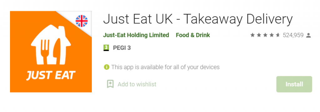 Just Eat UK for Mac PC